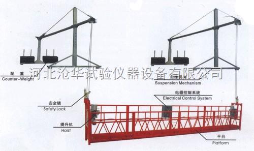 烟囱用环形吊篮,船用挂式吊篮,炉内检测吊篮,桥用超长吊篮,电梯安装