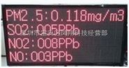 小區粉塵實時在線檢測系統大屏幕顯示PM值數據