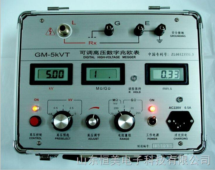 特大功率可调高压数字兆欧表