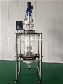 100L固相合成反应釜 合成反应器 过滤反应釜 玻璃反应器 发酵罐