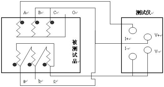 四、LYZZC-III-10A直流电阻测试仪系统介绍 LYZZC-III-10A直流电阻测试仪的面板见下图  AC220 开关 LYZZC-III-10A直流电阻测试仪工作电源,交流220V。 接 地 柱 LYZZC-III-10A直流电阻测试仪整机接地点,安全保护 复 位 键 按下此按键本机处于初始状态,可对输出电流进行预置。 循 环 键 按此键光标在主菜单循环滚动 选 择 键 本机复位后,按此键进行电流预置。 启 动 键 输出电流选择完毕后按下此键,微机控制实现全部测试过程。 I+、 I- 输出电流接