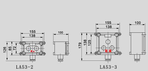 防尘能力,内装的按钮,指示灯,电流表均为防爆元件 电缆布线.