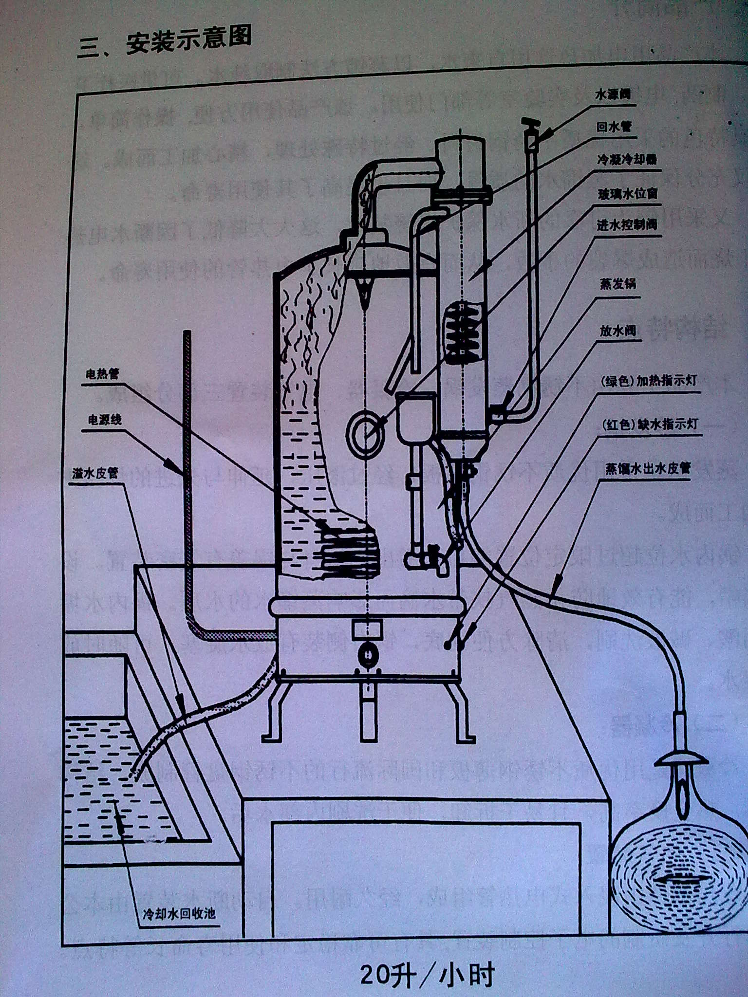 美的太阳能然水器结构图
