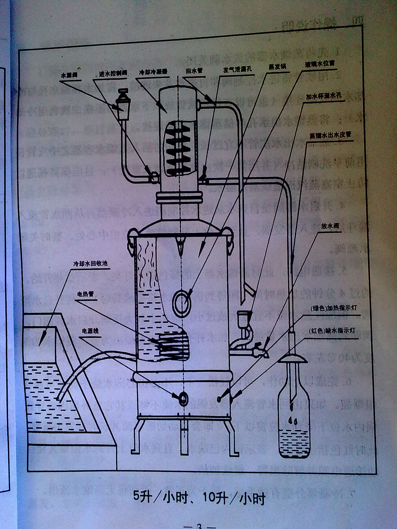 380v蒸馏水机接线图