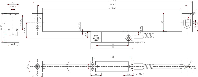 easson-gs系列机床光栅尺光学尺电子尺数显尺光标尺