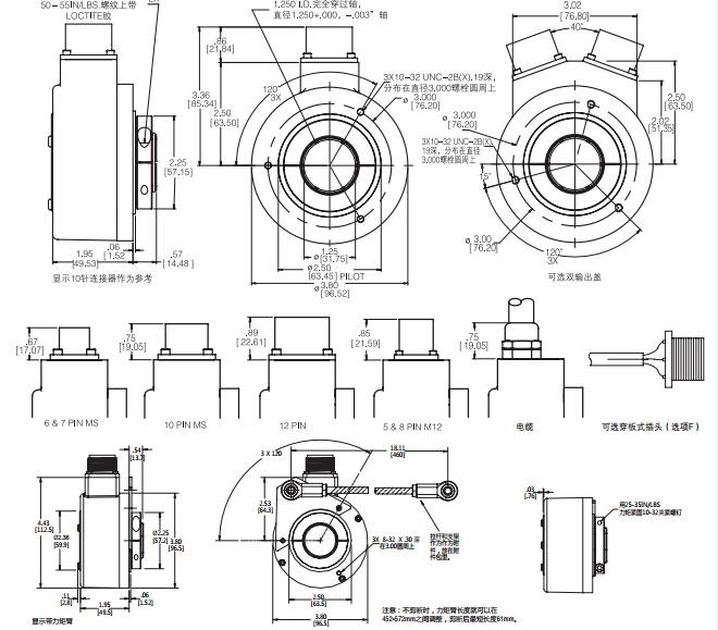 亨士乐空心轴增量式编码器信号格式