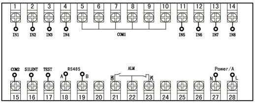 NHR-5810A-A-X-A八路闪光报警器 一、概述 NHR-5810闪光报警器广泛应用于石油、化工、冶金、电力、轻工等工业部门。是一种接点式声光报警显示仪表,具有电路简单、元件少、体积小、抗于扰能力强、可靠性高、接线简单等特点。 仪表的设计考虑到面向微机化、多功能化发展的趋势,采用单片机技术,使仪表具有功能齐全,是现有晶体管闪光报警器的换代产品。 二、主要技术参数 1.