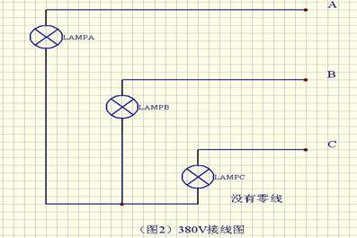 天车滑触线三相电源指示灯接线图