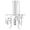 SHZ32-400不锈钢塔式蒸汽重蒸馏水器/上海申安400L蒸汽重蒸馏水器